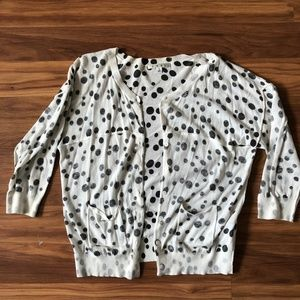 CAbi Dotted inside out cardigan (L)